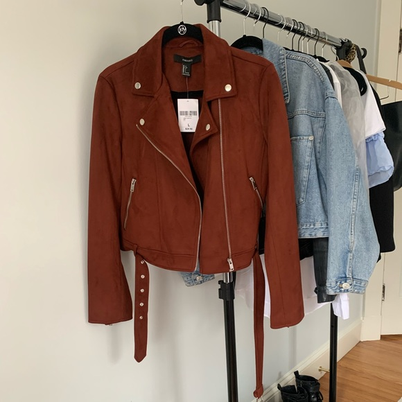 Women's Rust Suede Jacket